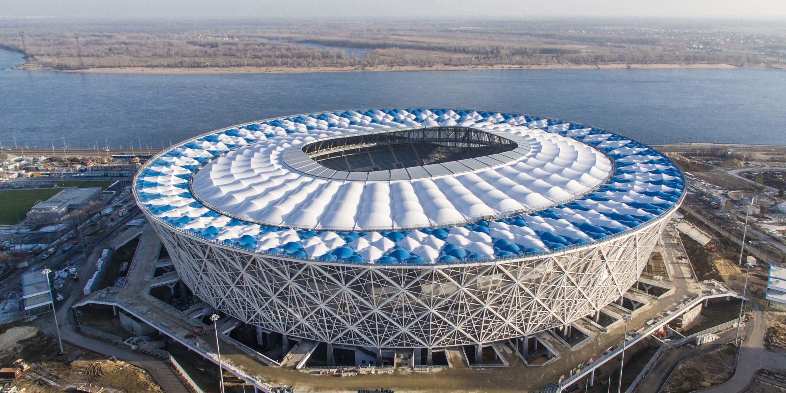 Volgograd Arena von oben