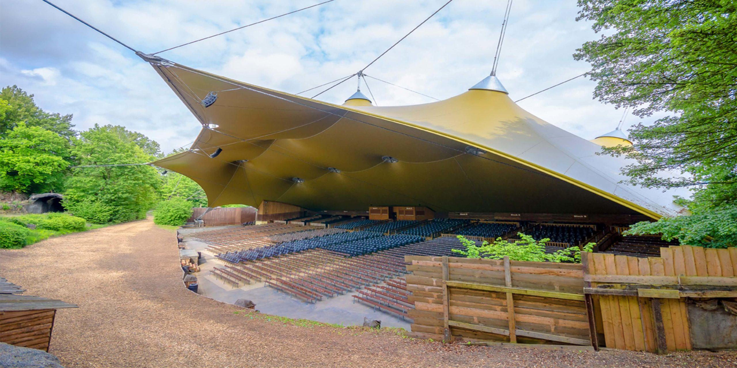 Das neue Dach für das Amphitheater
